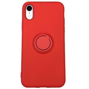 Купить Силиконовый чехол с кольцом iLoungeMax With Ring Red для iPhone XR