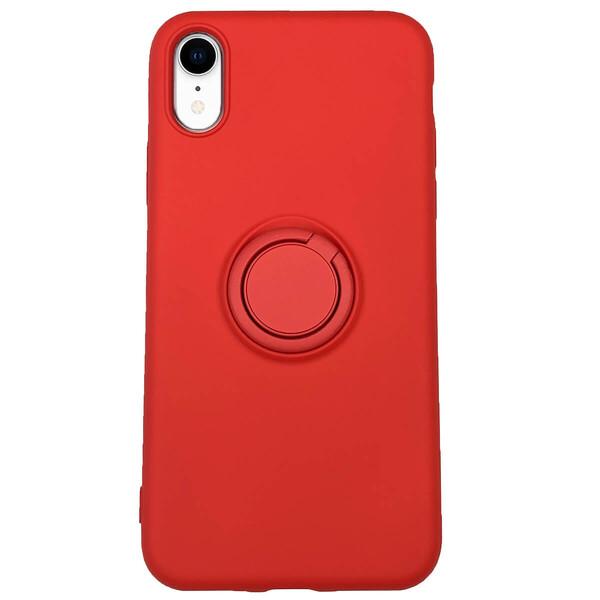 Силиконовый чехол с кольцом iLoungeMax With Ring Red для iPhone XR