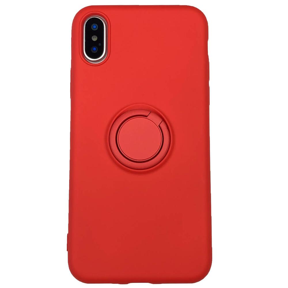 Силиконовый чехол с кольцом iLoungeMax With Ring Red для iPhone XS Max