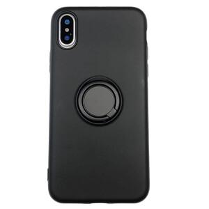 Купить Силиконовый чехол с кольцом oneLounge With Ring Black для iPhone XS Max