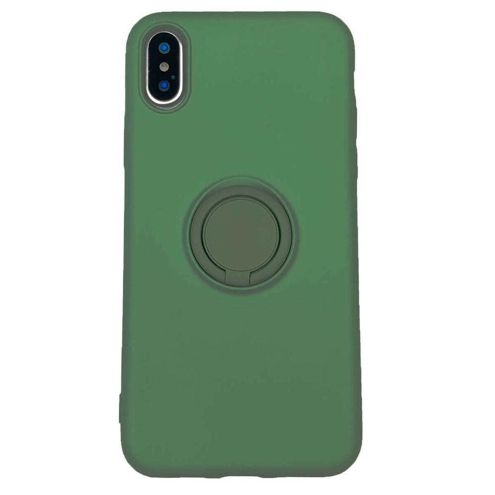 Купить Силиконовый чехол с кольцом oneLounge With Ring Forest Green для iPhone X   XS