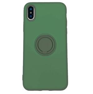 Купить Силиконовый чехол с кольцом oneLounge With Ring Forest Green для iPhone X | XS