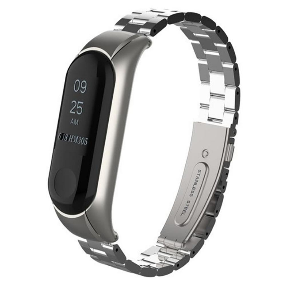 Купить Металлический ремешок для фитнес-браслета iLoungeMax Xiaomi Mi Band 3 | 4 Silver