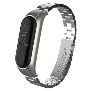 Купить Металлический ремешок для фитнес-браслета oneLounge Xiaomi Mi Band 3 | 4 Silver