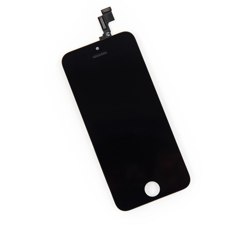 Купить Дисплей с тачскрином (оригинал, черный) для iPhone 5S