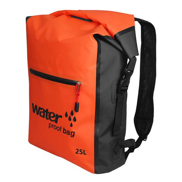 Водонепроницаемый рюкзак Outdoor Waterproof Swimming Bag 25L Orange