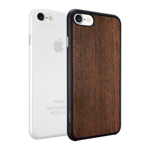Купить Чехол Ozaki O!coat 0.3 Jelly + Wood 2 in 1 Pack Transparent/Ebony для iPhone 7/8