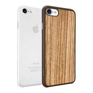 Купить Чехол Ozaki O!coat 0.3 Jelly + Wood 2 in 1 Pack Transparent/Zebrano для iPhone 7