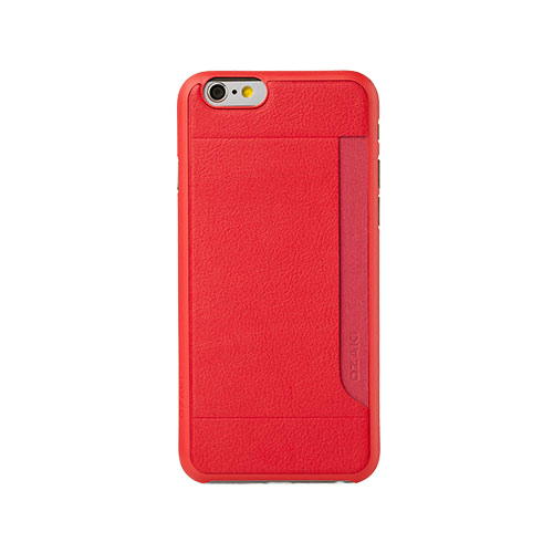 Чехол Ozaki O!coat 0.4 + Pocket Red для iPhone 6/6s Plus