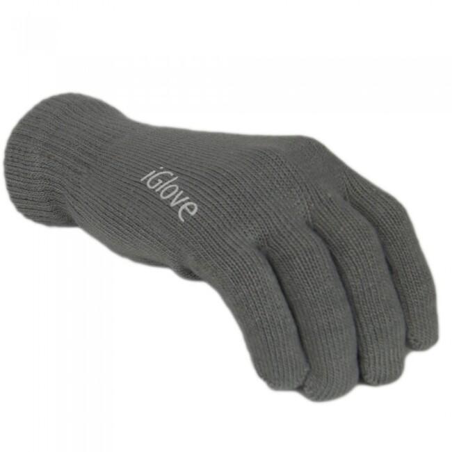 Перчатки iGlove для сенсорных экранов iPhone, iPad, iPod Темно-серые