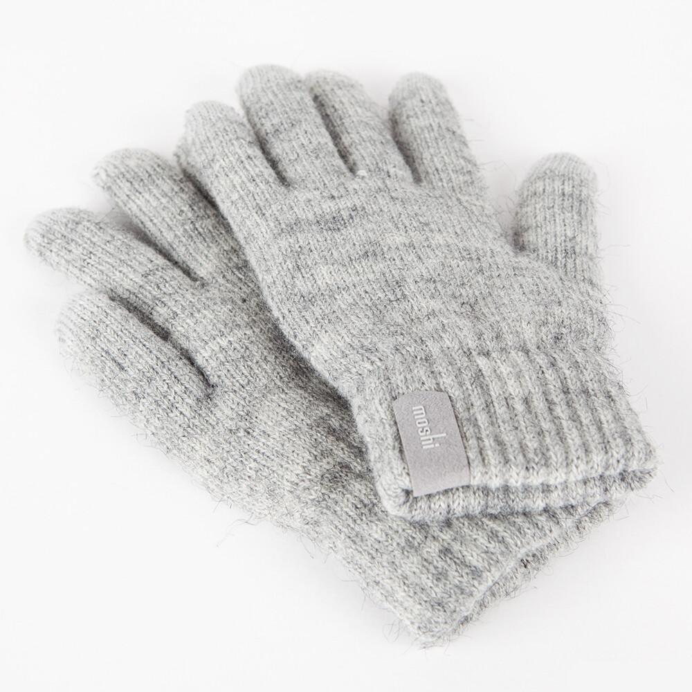 Светло-серые перчатки Moshi Digits (S/M) для сенсорных экранов iPhone/iPod/iPad/Android