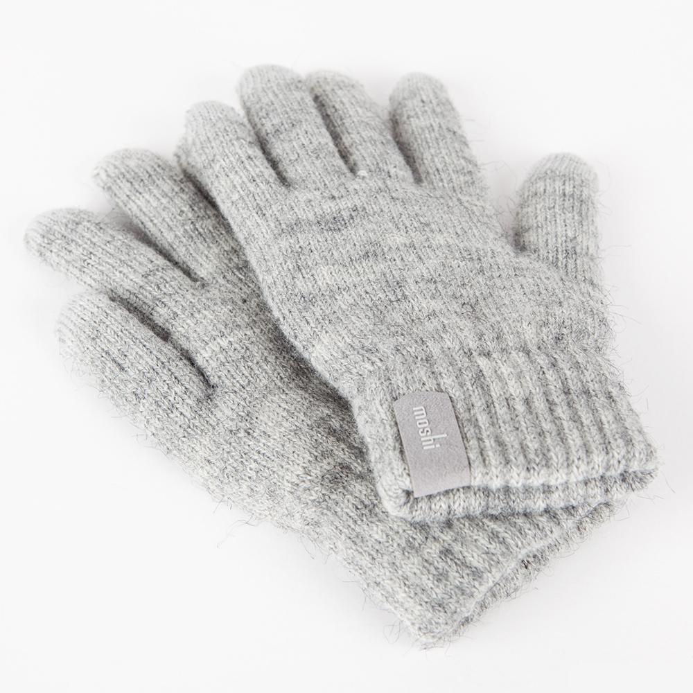 Купить Светло-серые перчатки Moshi Digits (S | M) для сенсорных экранов iPhone | iPod | iPad | Android