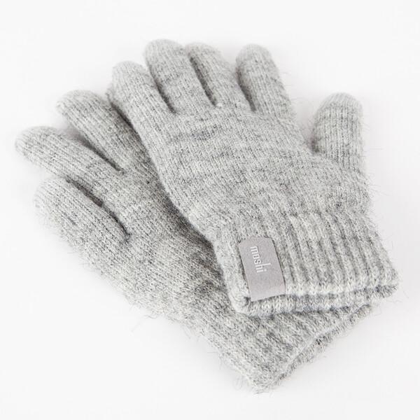 Светло-серые перчатки Moshi Digits (S | M) для сенсорных экранов iPhone | iPod | iPad | Android