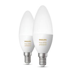 Купить Умные светодиодные лампы Philips Hue Single bulb E14 Apple HomeKit (2 шт)