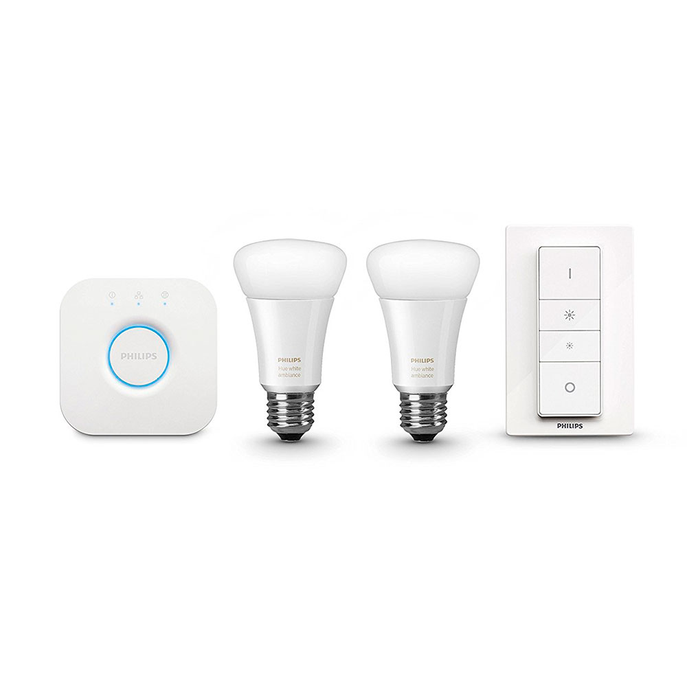 Купить Умные светодиодные лампочки Philips Hue White Ambiance A19 Starter Kit E27 Apple HomeKit (2 шт)