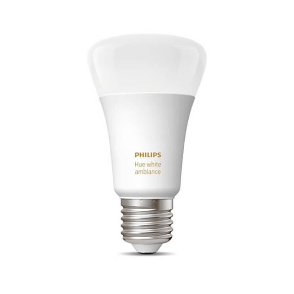 Умная светодиодная лампочка Philips Hue White Ambiance E27 Apple HomeKit (1 шт.)