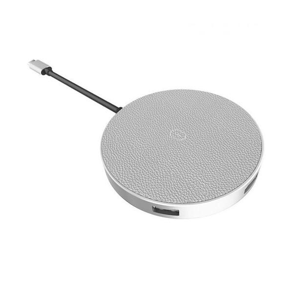 Беспроводное зарядное устройство с хабом для iPhone | Samsung WIWU Apollo Type-C