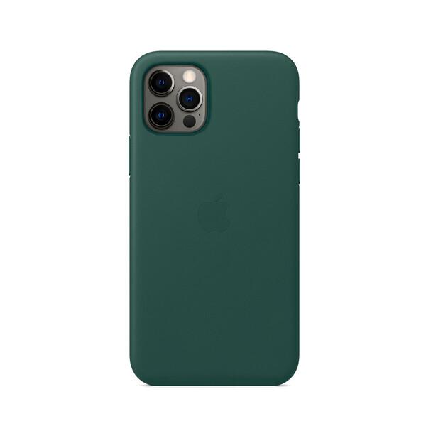 Кожаный чехол iLoungeMax Genuine Leather Case MagSafe Pine Green для iPhone 12 Pro Max ОЕМ