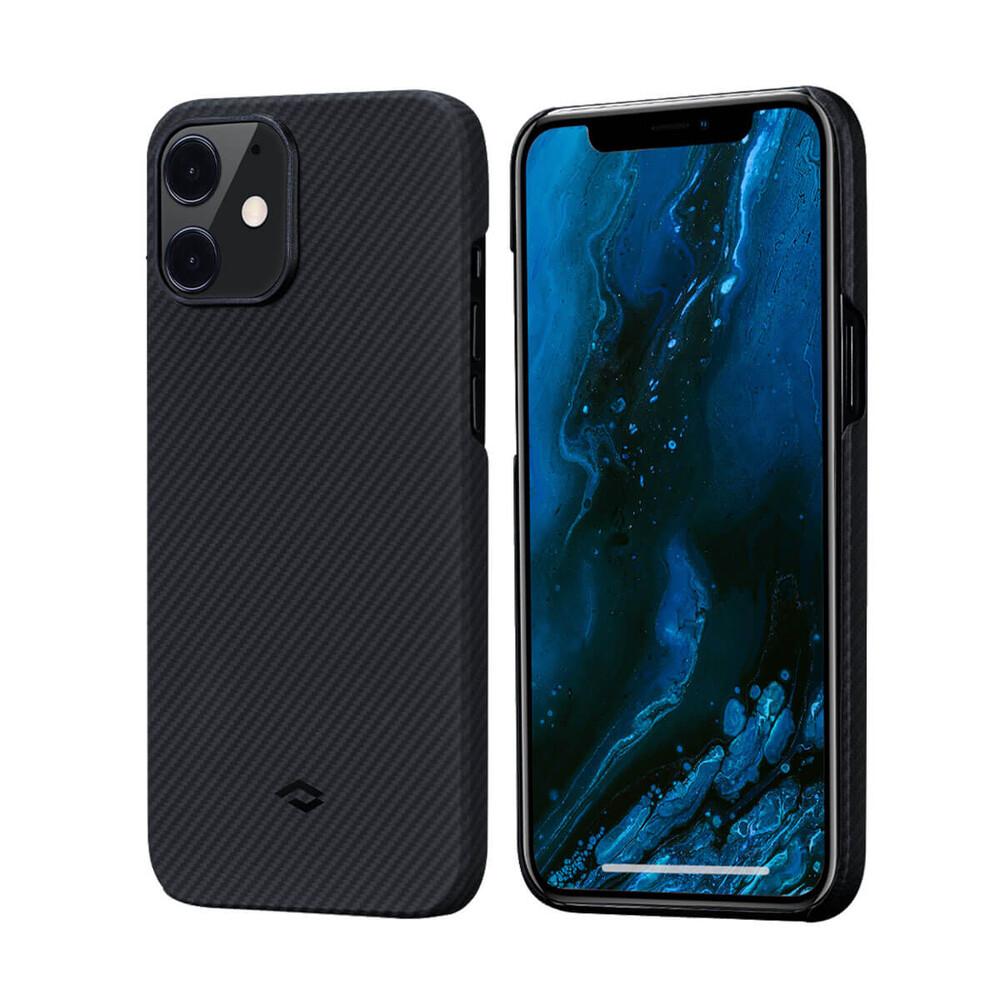 Купить Карбоновый чехол-накладка Pitaka Air Case Black/Grey для iPhone 12 mini