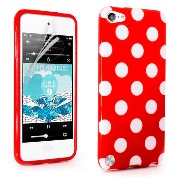Чехол iLoungeMax Polka Dots Red для iPod Touch 4