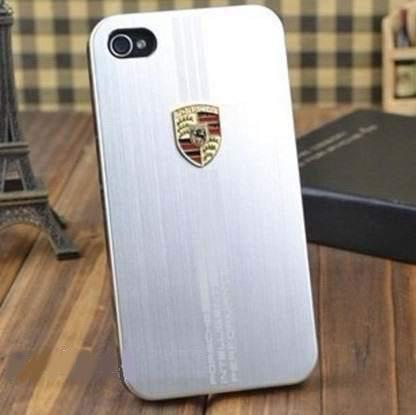 Чехол Porsche silver для iPhone 4/4S