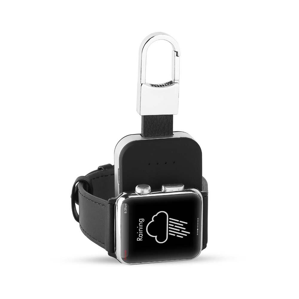 Портативный внешний аккумулятор с карабином Portable Charger 400mAh для Apple Watch