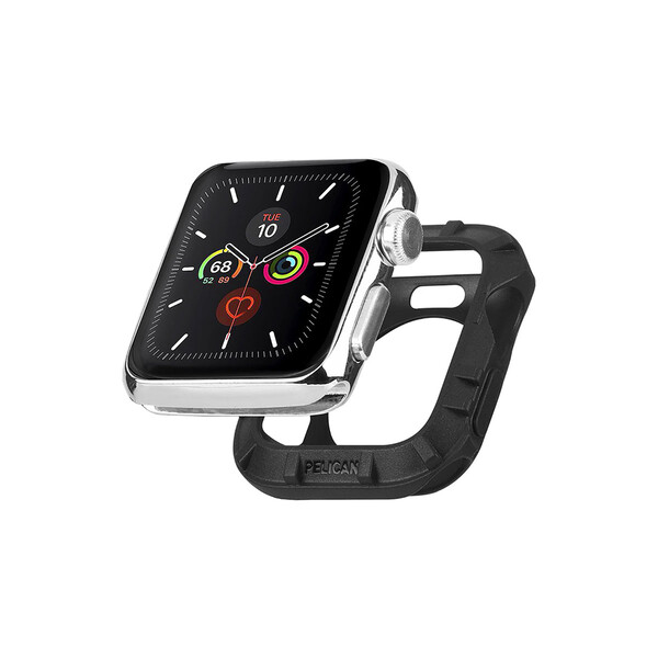 Силиконовый чехол Pelican Protector Bumper Black для Apple Watch 44mm | 42mm