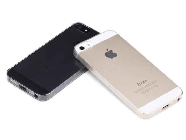 Купить Тонкий прозрачный TPU чехол oneLounge SilicolDots для iPhone 5   5S   SE