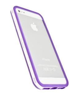 Купить Прозрачный бампер с фиолетовым ободком для iPhone 5/5S/SE