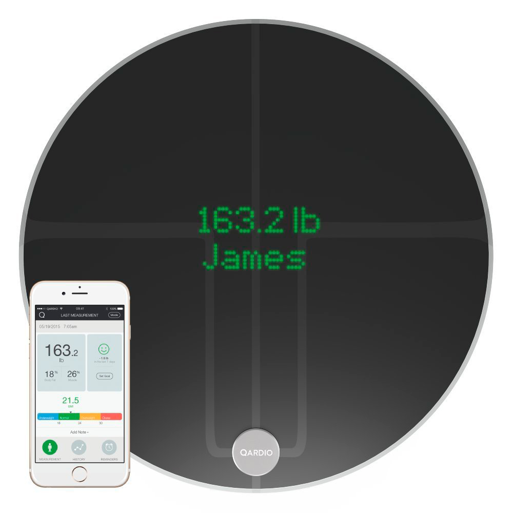Купить Умные весы Qardio QardioBase 2 Wireless Smart Scale Black