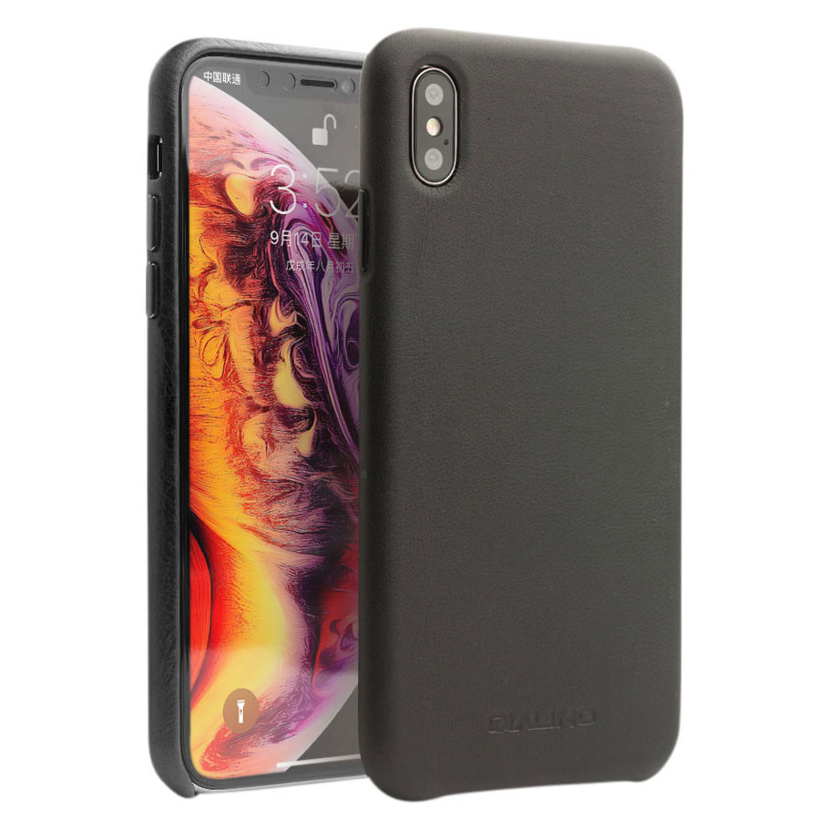 Кожаный чехол Qialino Leather Back Case Black для iPhone XS Max