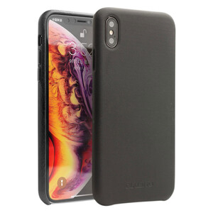 Купить Кожаный чехол Qialino Leather Back Case Black для iPhone XS Max