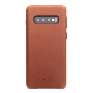 Купить Кожаный чехол Qialino Leather Back Case Brown для Samsung S10