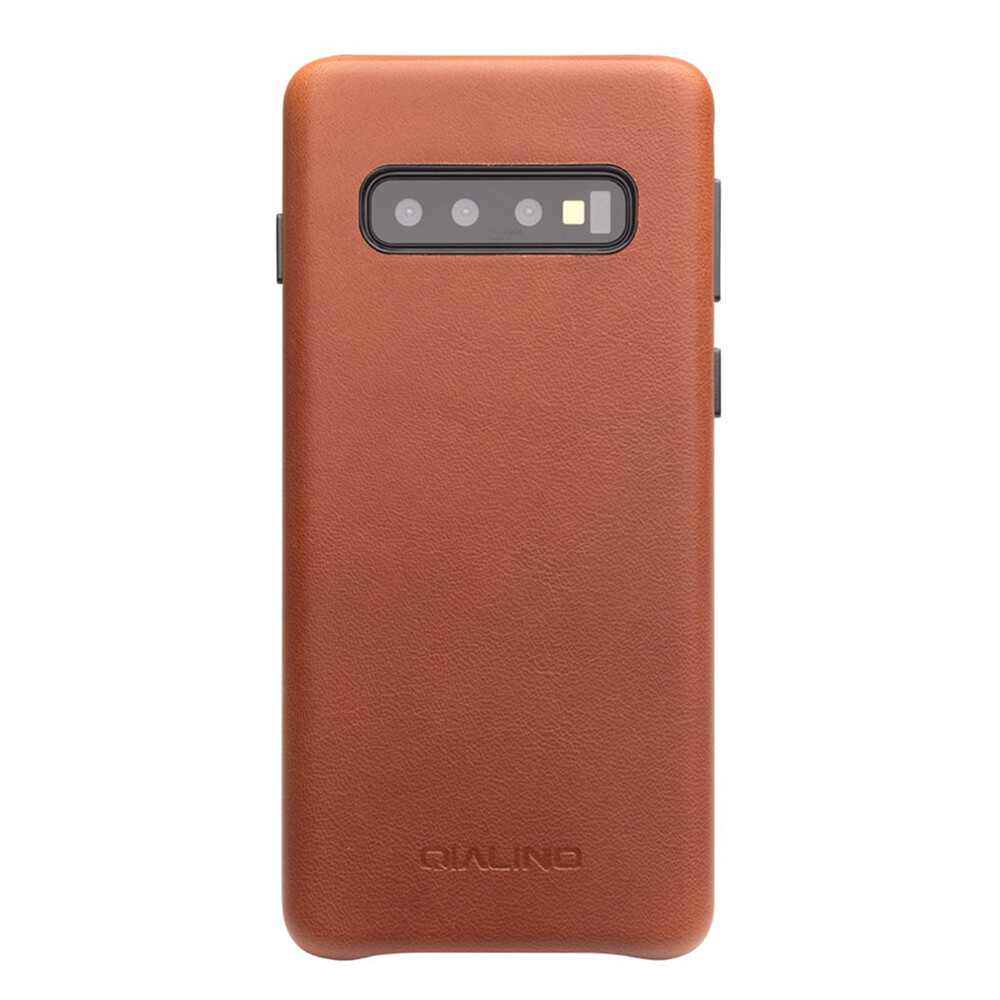 Кожаный чехол Qialino Leather Back Case Brown для Samsung S10 Plus