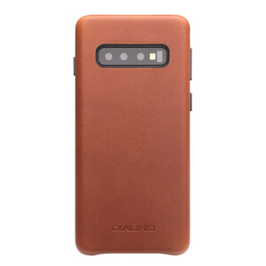 Купить Кожаный чехол Qialino Leather Back Case Brown для Samsung S10 Plus