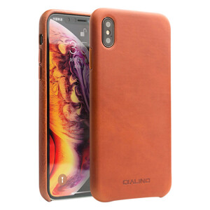 Купить Кожаный чехол Qialino Leather Back Case Coffee для iPhone XS Max