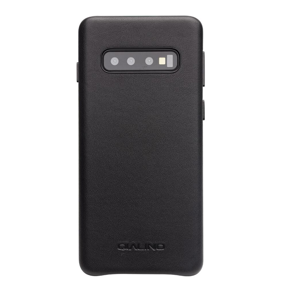 Кожаный чехол Qialino Leather Back Case Black для Samsung S10