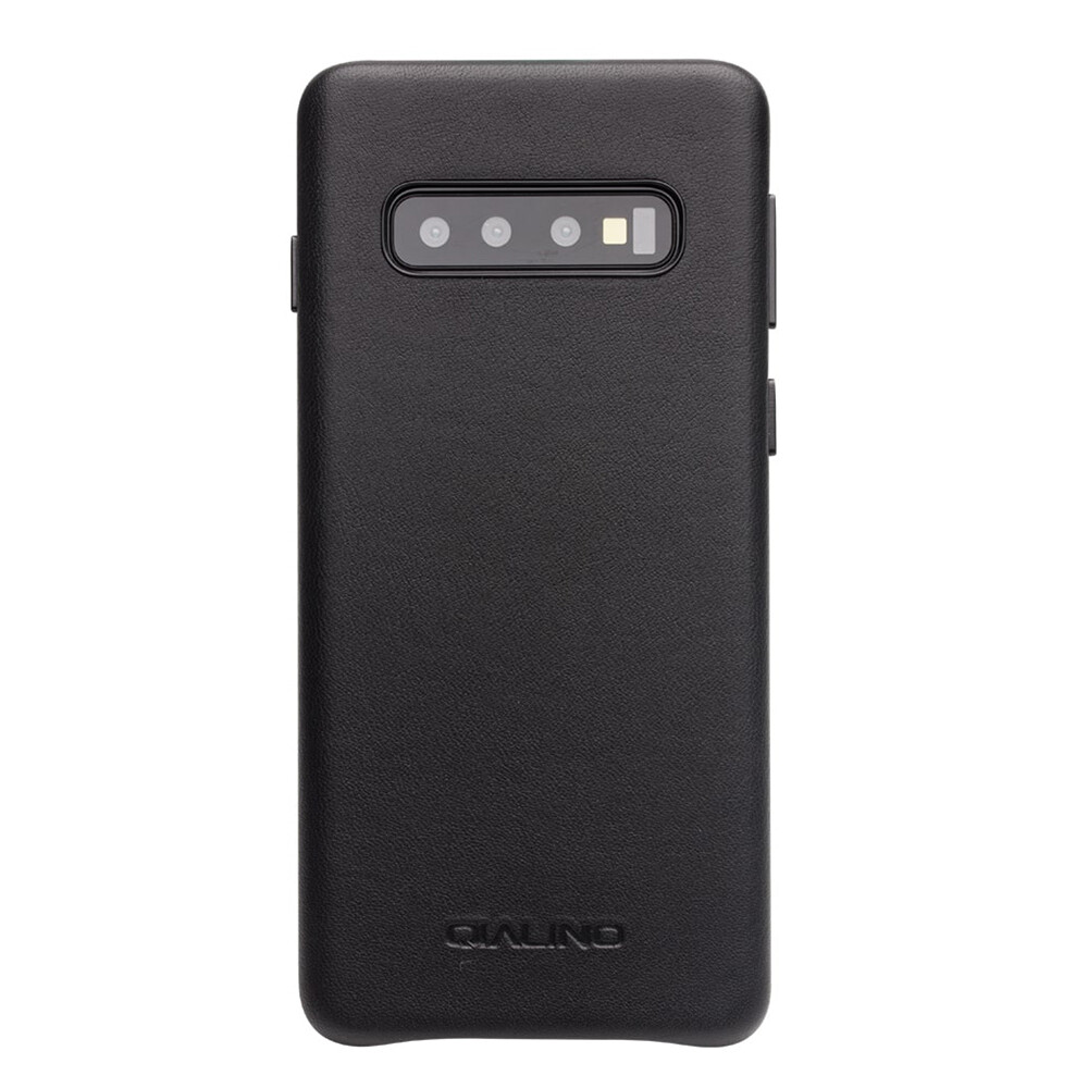 Кожаный чехол Qialino Leather Back Case Black для Samsung S10 Plus