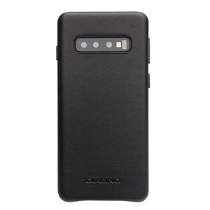 Купить Кожаный чехол Qialino Leather Back Case Black для Samsung S10 Plus