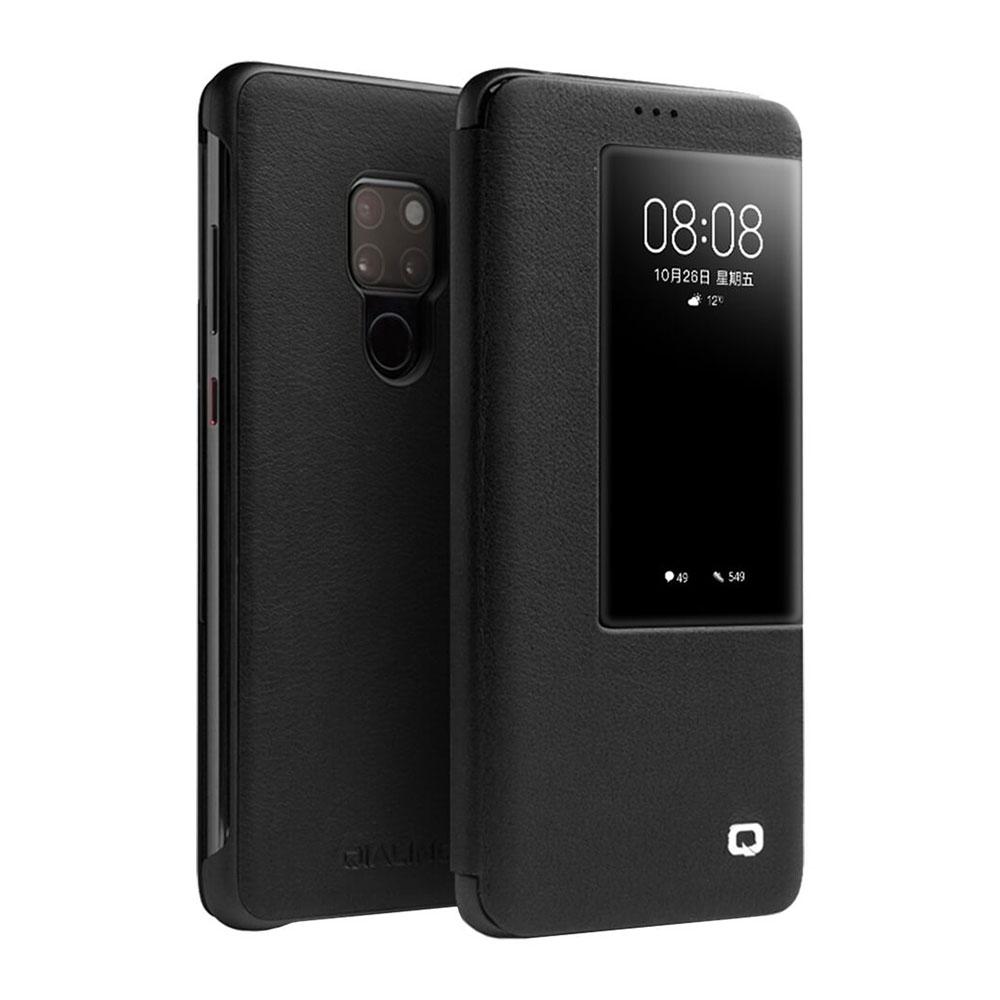 Купить Чехол-книжка Qialino Leather Flip View Black для Huawei Mate 20