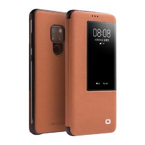 Купить Чехол-книжка Qialino Leather Flip View Light Brown для Huawei Mate 20