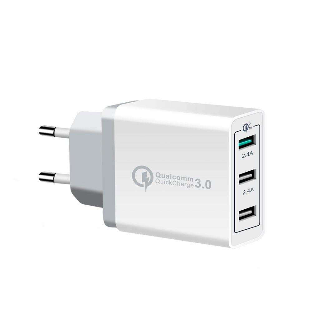Быстрое зарядное устройство 3-Port Fast Charger Quick Charge 3.0