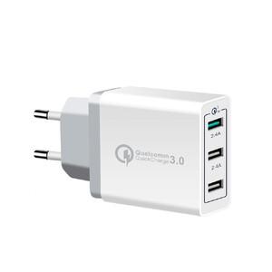 Купить Быстрое зарядное устройство 3-Port Fast Charger Quick Charge 3.0