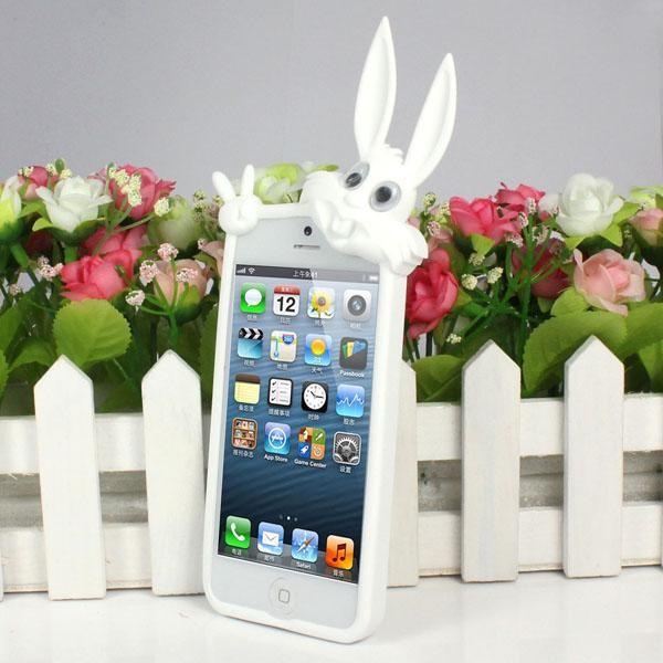 """Силиконовый чехол """"Кролик"""" для iPhone 5/5S/SE"""