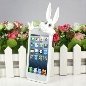 """Купить Силиконовый чехол """"Кролик"""" для iPhone 5/5S/SE"""