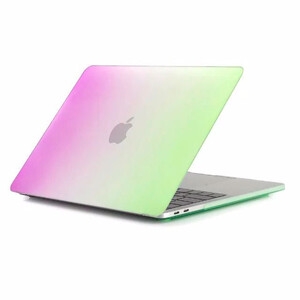 """Купить Пластиковый чехол Rainbow Purple/Green для Macbook Pro 15"""" (2016/2017)"""