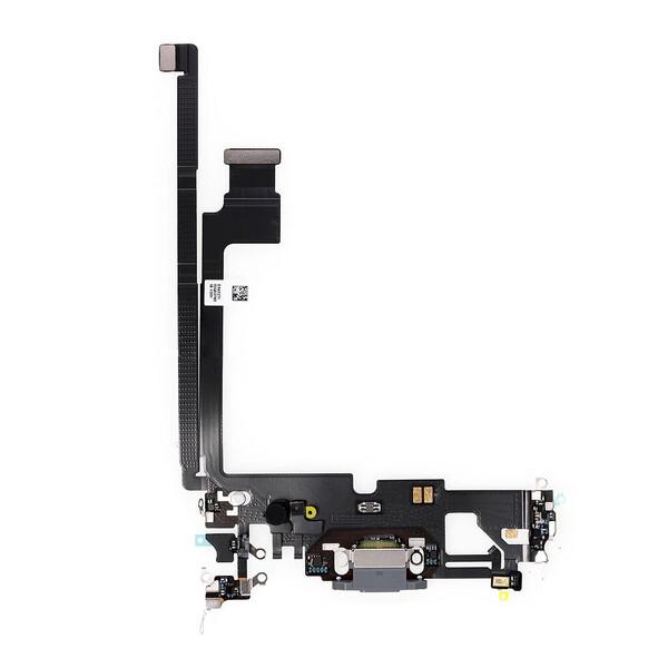 Шлейф с разъемом зарядки Lightning (Graphite) для iPhone 12 Pro Max