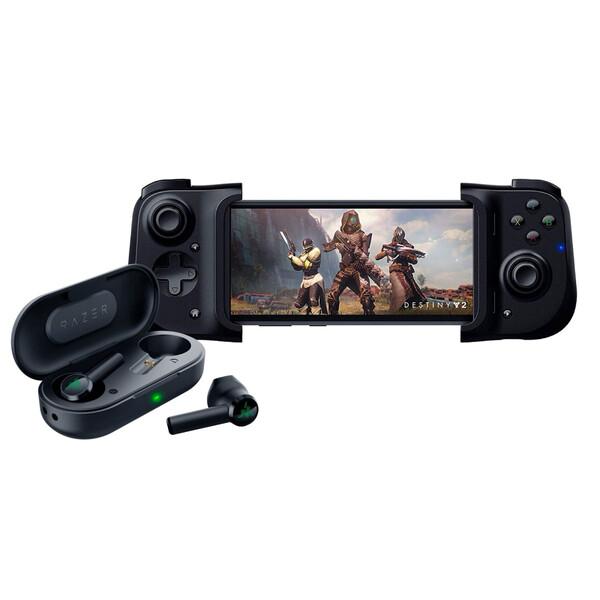 Игровой джойстик Razer Kishi + Беспроводные наушники Hammerhead True Wireless Bluetooth для iPhone