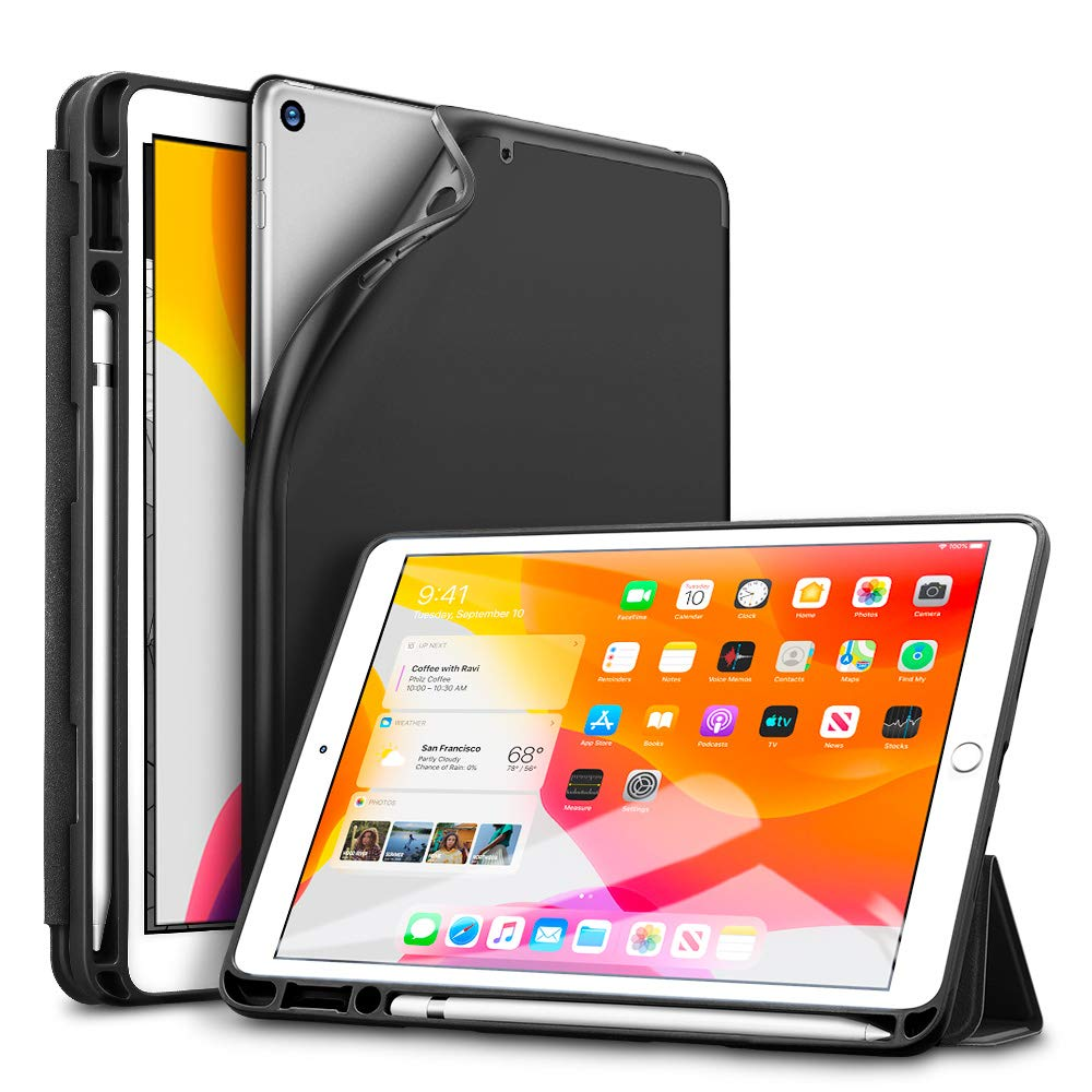 "Купить Чехол-книжка ESR Rebound Pencil Trifold Smart Case Black для iPad 8 | 7 10.2"" (2020 