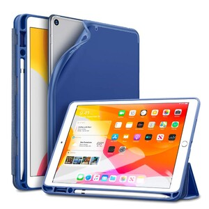 Купить Чехол-книжка ESR Rebound Trifold Smart Case Navy Blue для iPad 7 10.2″ (2019)